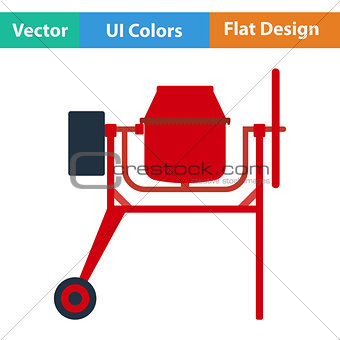 Flat design icon of Concrete mixer