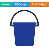 Flat design icon of bucket