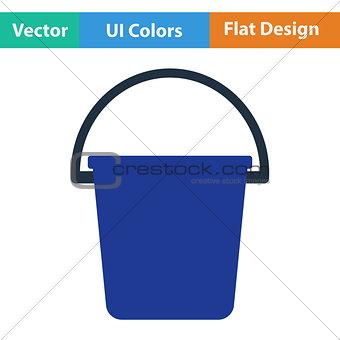 Flat design icon of bucket
