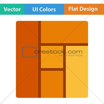 Flat design icon of parquet plank pattern