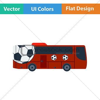 Football fan bus icon