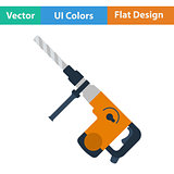 Flat design icon of electric perforator