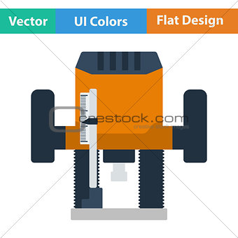 Flat design icon of plunger milling cutter