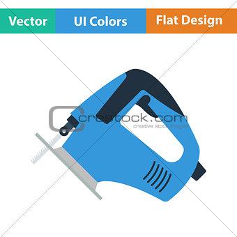 Flat design icon of jigsaw icon