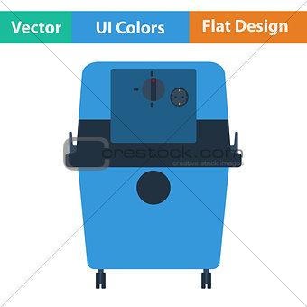 Flat design icon of vacuum cleaner