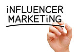 Influencer Marketing Black Marker