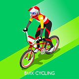 Cycling BMX 2016 Summer Games 3D Isometric Vector Illustration
