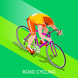 Cycling Road 2016 Summer Games 3D Isometric Vector Illustration