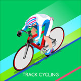 Cycling Track 2016 Summer Games 3D Isometric Vector Illustration