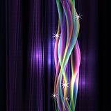 dinamyc flow, stylized  waves, vector