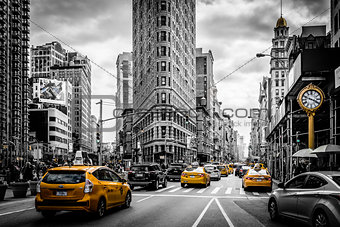 Flatiron and the Yellow Cabs