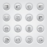Mobile Devices and Services Icons Set
