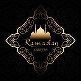 Stylish Ramadan Kareem background