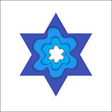 Star of David. Magen David, vector religious symbol.