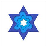 Star of David. Magen David, vector religious symbol.