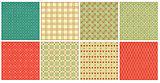 Set of retro geometric ornamental pattern