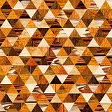 Grunge background with wooden triangles patterns