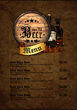 menu design with beer