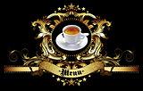 menu design with coffee