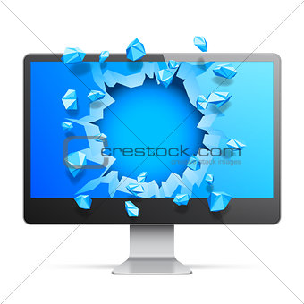 Broken Computer Monitor
