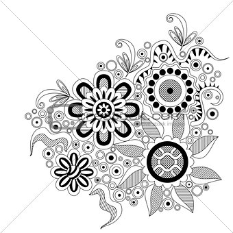Abstract Floral Pattern, Contour