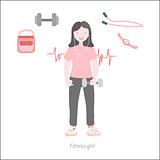 Fitness girl flat