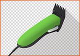 Hair clipper platform cart isometric