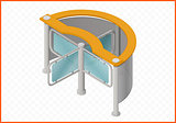 turnstile isometric perspective view