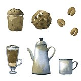 Coffee watercolor illustrations.