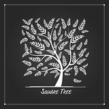 Art tree square for your design