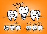 Teeth juicy orange cartoons