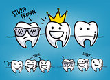 Teeth cool cartoons blue