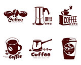 Set coffee logos