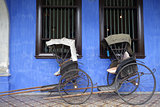 Old rickshaw tricycle near Fatt Tze Mansion or Blue Mansion, Pen