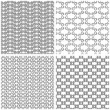 Four Seamless Monochrome Patterns