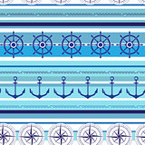 Seamless nautical blue colorful pattern