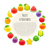 Fruits and Vegetables Round Banner
