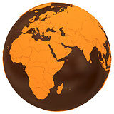 Africa on chocolate Earth