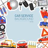 Car Service Frame