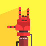 Robot Hand Making Sign Of Horns
