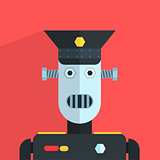Military Officer Robot Character