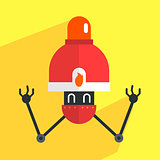 Fire Alarm Robot Character