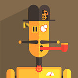English Gentleman Robot Character