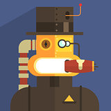Magnate Robot Character