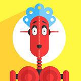 Servant Girl Robot Character