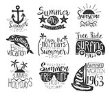Summer Vacation Vintage Stamp Collection
