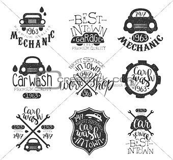 Car Wash Vintage Stamp Collection