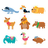 Dressed Animals Set