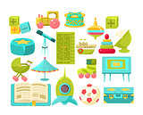 Kids Room Interior Elements Set