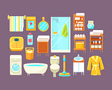 Bathroom Interior Elements Set